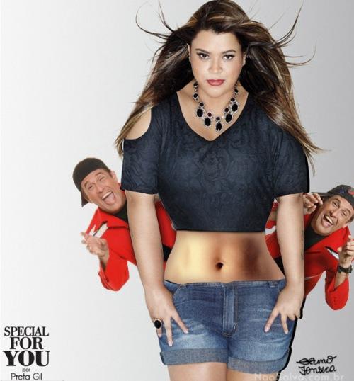 Preta Gil, C&A, photoshop